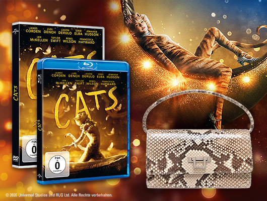 Zum DVD- und Blu-ray Start von CATS eine Luxustasche gewinnen!
