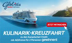 Gewinnen Sie eine Kanaren-Kreuzfahrt für 2 Personen mit der AIDAnova!